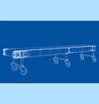 3d outline conveyor belt rendering 3d vector image
