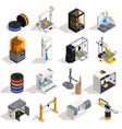 3d printing icons set vector image vector image