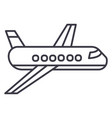 airplaneplane line icon sign vector image vector image