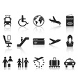 Airport and travel icons set vector image
