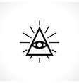 all-seeing eye vector image vector image
