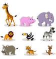 animal wildlife cartoon collection vector image vector image