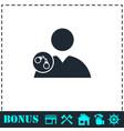arrest icon flat vector image