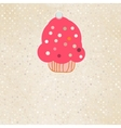 Background with cupcake and polka dot EPS 8 vector image vector image