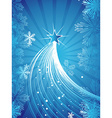 Beautiful Blue Christmas vector image