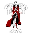 Beautiful woman with wings vector image vector image