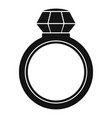brilliant ring icon simple style vector image vector image