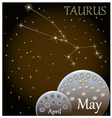 Calendar of the zodiac sign Taurus vector image vector image