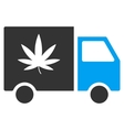 Cannabis Delivery Van Flat Icon