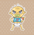 cartoon angry baby vector image