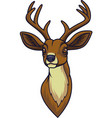 cartoon deer head mascot vector image vector image