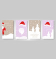 christmas card set merry christmas happy new year vector image