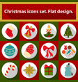 christmas icons set 12 image vector image