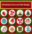 christmas icons set 12 image vector image vector image