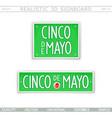 cinco de mayo design elements vector image