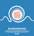 Cinema Clapper sign icon Blue and white abstract vector image