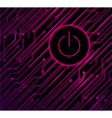 circuit on off background vector image vector image