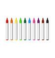 color marker felt tip marker pencil vector image