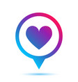 colorful heart sign in circle pin icon vector image vector image