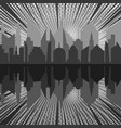 comic night city silhouette monochrome concept vector image vector image