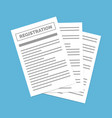 contract creation document formation obligation vector image vector image