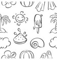 doodle of element holiday summer vector image vector image