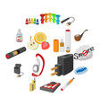 electronic cigarettes icons cartoon vector image vector image