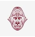 entangle stylized monkey head vector image vector image
