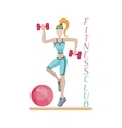 Fitness background women vector image vector image