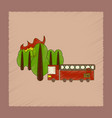 flat shading style icon forest fire truck vector image vector image