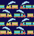 flat train seamless pattern vector image