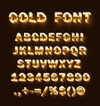 font 3d gold sign set template design element vector image vector image