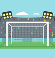 football gate icon flat style vector image vector image