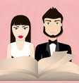 get married couple bible card vector image vector image