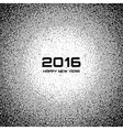 Gray New Year 2016 Snow Flake Background vector image vector image
