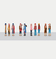 group of women with winter clothes vector image
