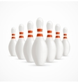 group white bowling pins vector image