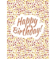 Happy birthday card cover with red yellow and vector image