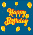 happy birthday party retro greeting card vector image vector image