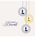 happy diwali decorative lamps background vector image vector image