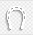 horseshoe sign white icon vector image vector image