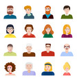 isolated object people and avatar icon set of vector image