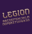 legion pink golden alphabet gaming stylized font vector image vector image