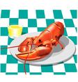 Lobster dinner vector image vector image