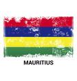 mauritius flag design vector image