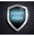 metal shield with the inscription security system vector image vector image