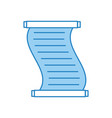 museum papyrus isolated icon vector image vector image