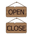 open close signs made of wood vector image