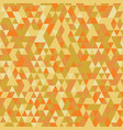 orange retro triangular seamless pattern vector image vector image