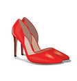 pair of red high heel shoes vector image